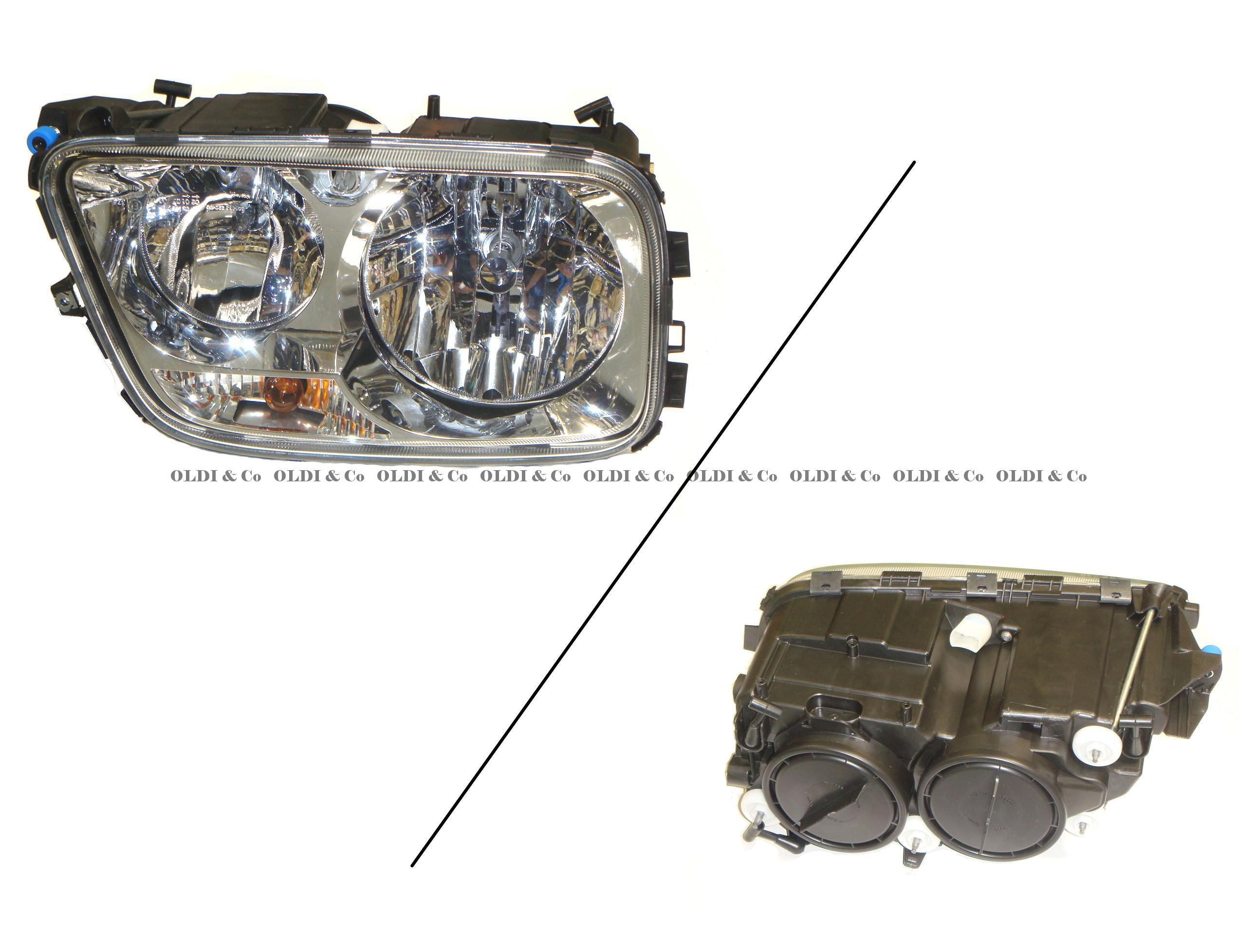 13.028.16424 Optics and bulbs → Complete headlamp